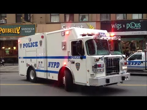 Brand New Nypd Bomb Squad Truck Walk Around View On Scene