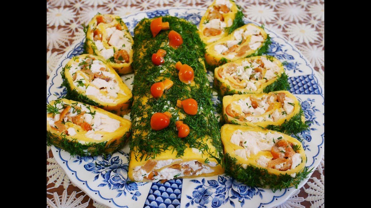 Закуски и салаты на праздничный стол фото