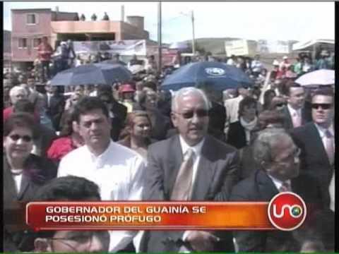 Gobernador del Guainía se posesionó prófugo