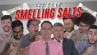 Trying Smelling Salts For The First Time