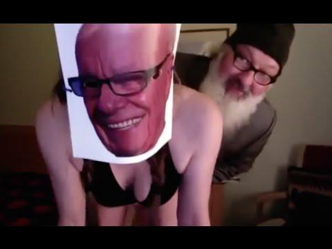 Randy Quaid rear ends Rupert Murdoch
