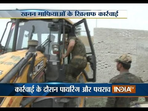 Police Destroys More than 100 Stone Crusher in Sasaram, Bihar - India TV