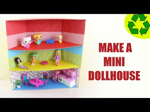How to Make a Mini Dollhouse  - ver 1 - SUPER EASY- Doll Crafts