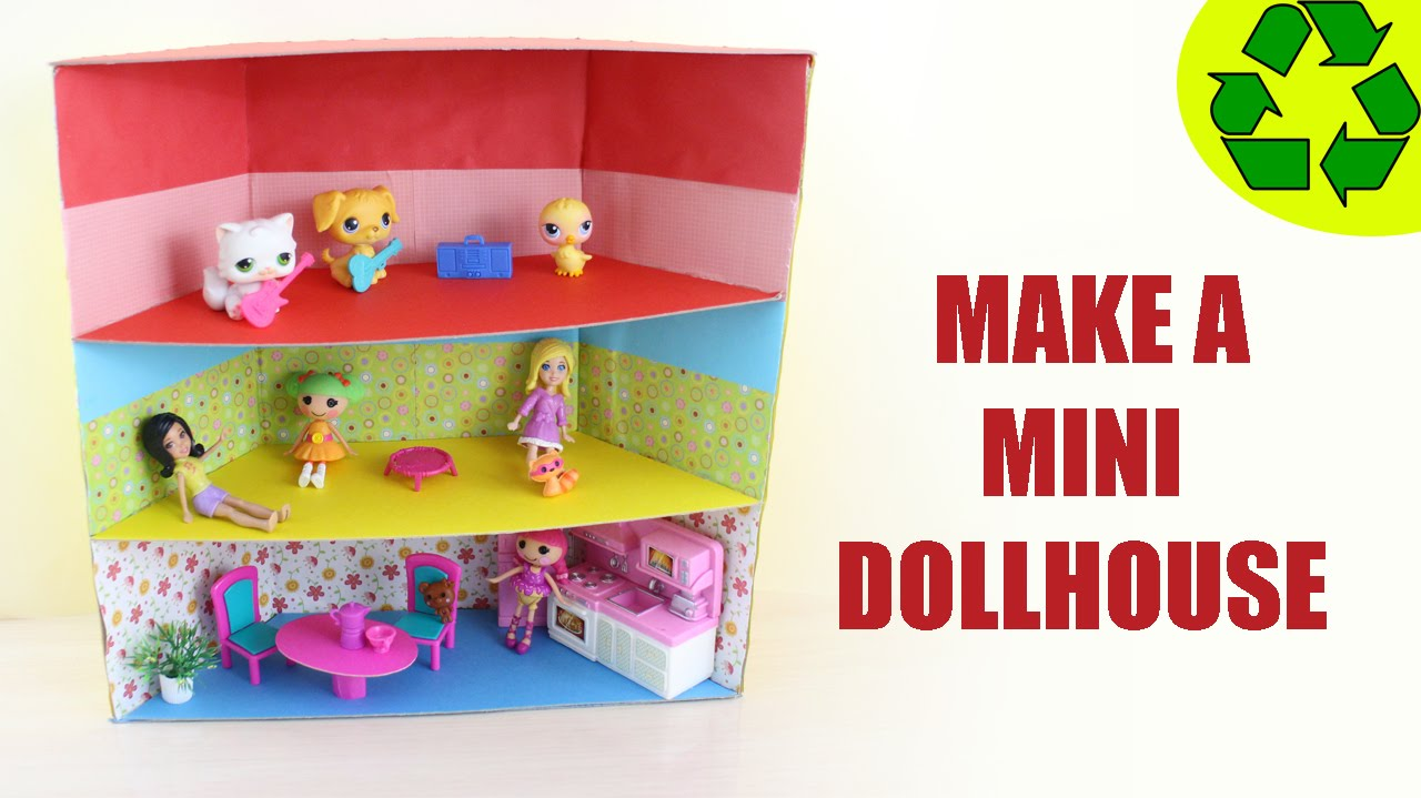 How to Make a Mini Dollhouse - ver 1 - SUPER EASY- Doll ...
