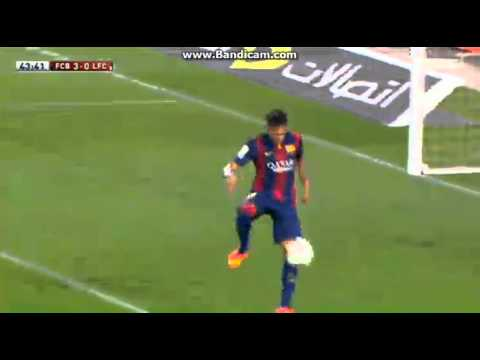Neymar Fantastic Second Goal - Barcelona vs Club Leon 6-0 ( Friendly Match ) 2014 HD
