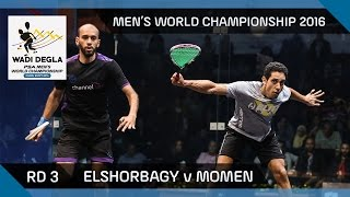 Squash: Mar. ElShorbagy v Coleman - Men's World Championship rd 2 Highlights