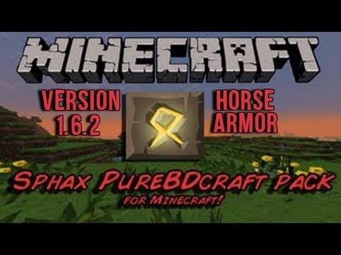 Sphax PureBDcraft 1.6.2 Horse Armor Texture Pack Showcase
