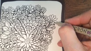 Sophie Draws - Speed Drawing 2 (speed doodling, doodle, zentangle, oodles of doodles, not ASMR)