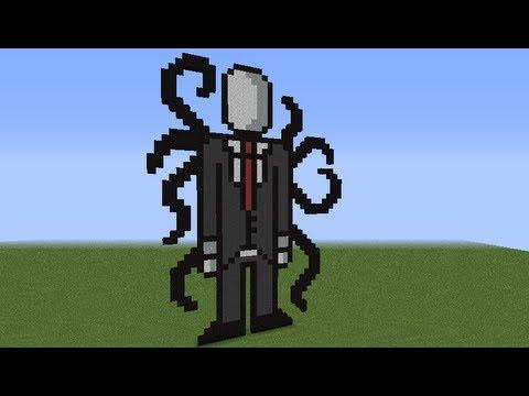 как построить Слендермена в minecraft(#2) - YouTube