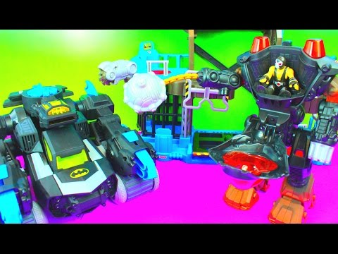 Imaginext Villain Robot takes over Superhero Batman BatBot saves Police Bane Just4fun290
