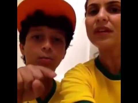 Aline Barros E Nicolas Barros Manda Mensagem Pra Neymar Jr. video