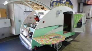Vintage Teardrop Camper with 1956 Parklane Trim - 1993 Bailey Built Unit