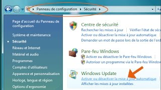 desactiver mise a jour windows 7      طريقة ايقاف التحديثات للوينداوز7