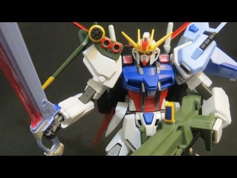 HG Perfect Strike Gundam (3: MS) Gundam Seed Mu La Flaga model review ガンプラ