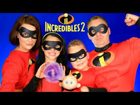 Disney Pixar Incredibles 2 Mr. Incredible, Elastigirl, Violet, Dash, Jack Jack Makeup and Costumes!