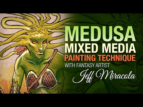 Medusa Mixed Media Sketch by Fantasy Artist Jeff Miracola