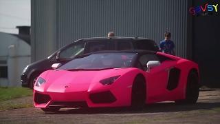 Rays of sunshine - Pink Lamborghini Aventador Behind the scenes