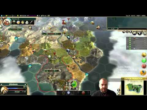 Civilization 5 Multiplayer 134: Ethiopia [2/4] ( BNW 6 Player Free For All) Gameplay/Commentary