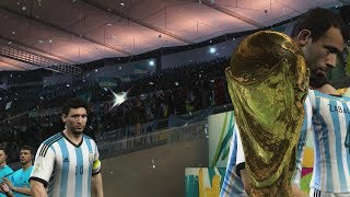 2014 FIFA World Cup Brazil: Argentina wins the World Cup! (HD Gameplay)
