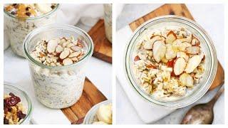 Honey Almond Overnight Oats (Gluten Free + Dairy Free)