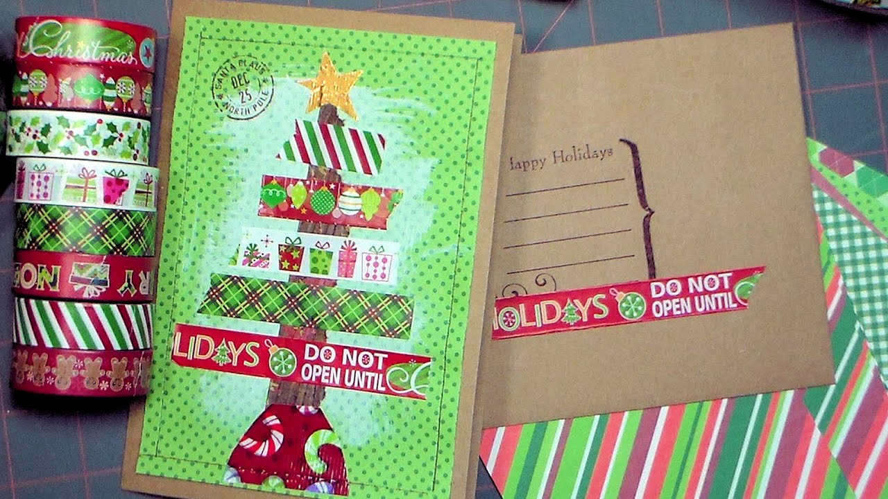 Christmas Card Stashbuster Use That Washi Tape Pattern