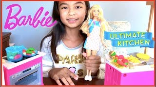 Barbie Ultimate Kitchen Cooking Time Pretend Play | Toys Academy