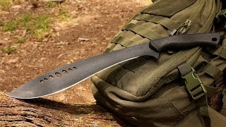 NEW! Schrade SCHKM1 Large Full Tang Kukri Machete - Best Large Kukri Machete