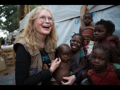 In the Central African Republic with Mia Farrow