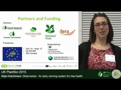 Kate Hutchinson. Observatree – An early warning system for tree health