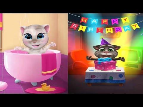 Talking Tom y Angela - El Gato Tom y la Gata Angela Crecen Juntos desde el Principio