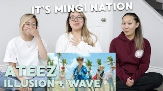 "MV REACTION | ATEEZ (에이티즈) ""ILLUSION"" & ""WAVE"""