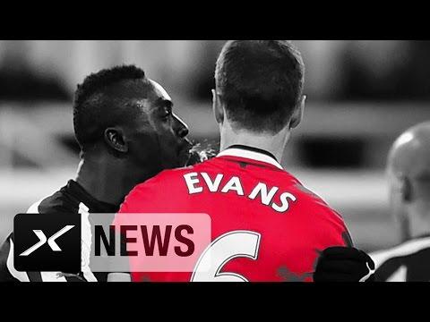 Spuck-Affäre: Johnny Evans und Papiss Cisse lange gesperrt   Manchester United   Newcastle United