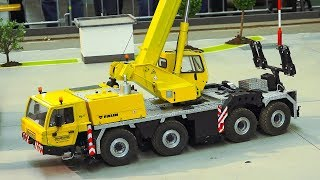 RC MODEL SCALE CRANE WALDSCHÜTZ TADANO FAUN AT HARD WORK!! *RC CONSTRUCTION SITE