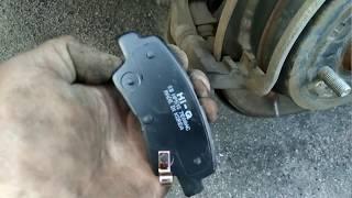 Как заменить задние тормозные колодки, на автомобиле Kia Rio 2013 года