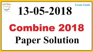 [Answer Key ] MPSC Combine paper solution 2018 reasoning and math exam guide