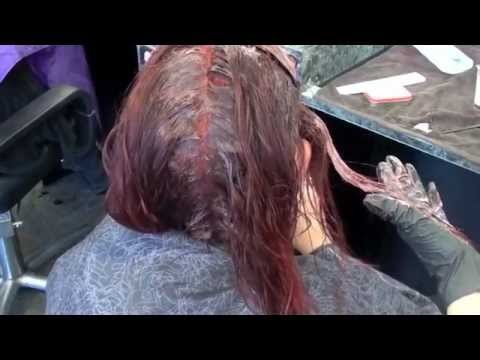 Haircolor: Red permanent, and demi-glaze