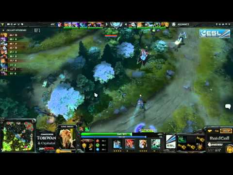 The Alliance vs 4FC Game 1 Final   RaidCall EMS One Summer DOTA 2 Group Stage   TobiWan