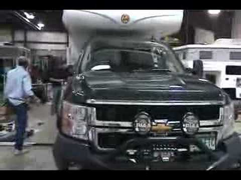 2008 Chevy Lifted with pop-up truck camper Video