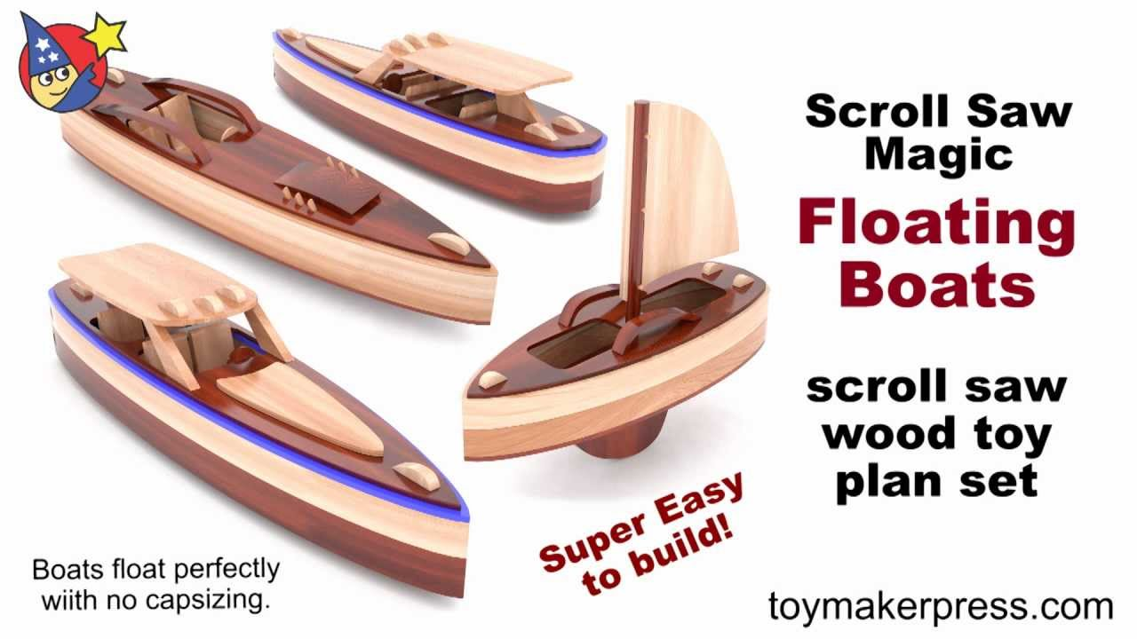 Wood Toy Plans - Scroll Saw Magic Speed Boats - YouTube