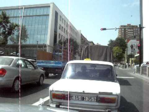 Baku,centr,Azerbaijan - on taxi))