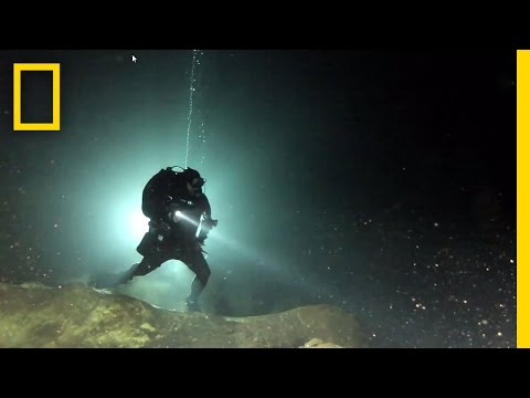 Diving in a Sacred Maya Cave