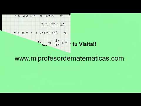 Aplicacion de la Derivada - Calculo Diferencial - Mi Profesor de Matemáticas - Video 082