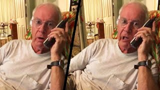 Grandfather's Donald Duck Voice Scares Away Telemarketer