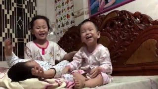 Food & Travel #17 I Vuta & Vutey - Twin Girls Happy with sister