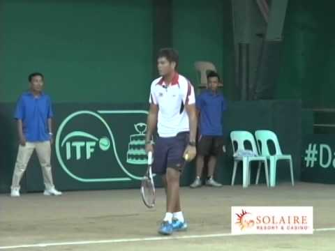 Davis Cup Zone II Asia/Oceania Tie 2014 - Philippines vs Pakistan - PJ Tierro vs Aqeel Khan (Part 1)