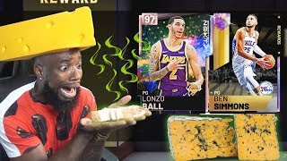 I ATE THE WORLDS SMELLIEST CHEESE FOR OPAL BEN SIMMONS AND LONZO BALL!