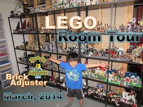 Lego Room Tour - Brick Adjuster - March 2014 - YouTube