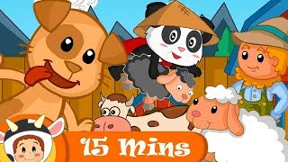 Bingo -The Dog   And More Farm Songs   Compilation 15+ Minutes   BabyMoo Songs For Kids