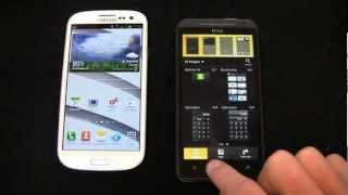 Samsung Galaxy S III vs. HTC EVO 4G LTE Dogfight Part 1