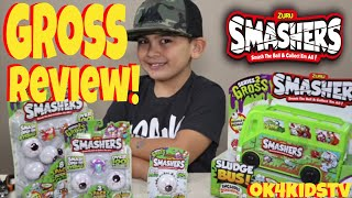 Gross Review Zuru Smashers Sludge Bus Gross Series 2 and Smasher Gross Eyeballs ok4kidstv video 224